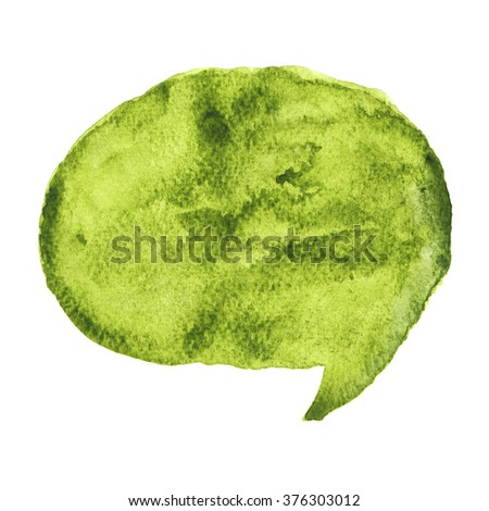 Speech watercolor style - stock photo