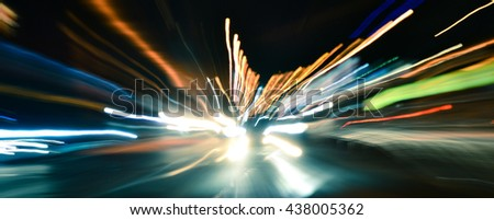 Speed accelerating blurred motion abstract - stock photo