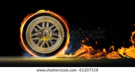 Speed and fire - stock photo