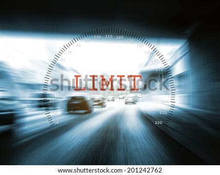 speed limit - stock photo