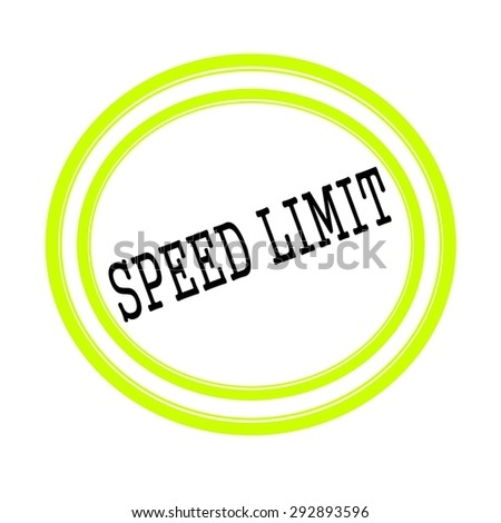 SPEED LIMIT black stamp text on white - stock photo