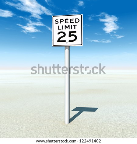 Speed Limit 25 Computer generated 3D illustration - stock photo