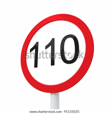 speed limit sign 110