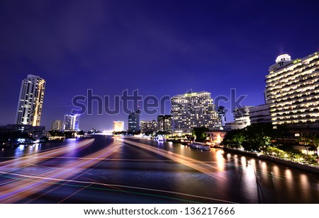 speed of light - stock photo