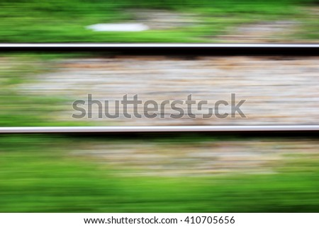 Speed rail background blur. - stock photo
