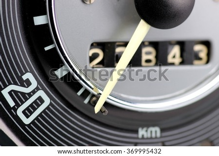 speedometer an odometer of classic car