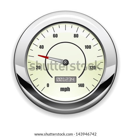 speedometer icon - stock photo