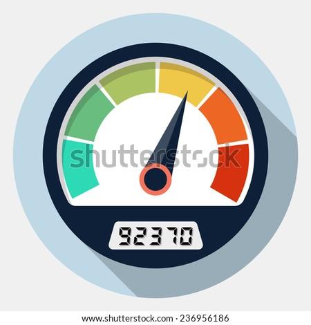 Speedometer icon - stock photo