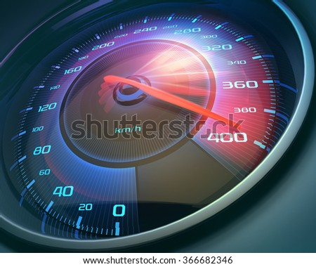 Speedometer scoring high speed, but without indicators numbers.