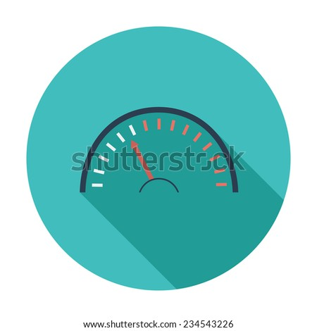 Speedometer. Single flat color icon.  illustration. - stock photo