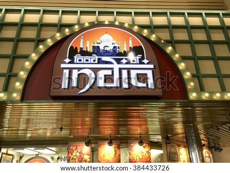 SPENCER , WISCONSIN, March,1, 2016   Food of India store in a retail shopping mall - stock photo