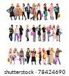 Spending Crowd Diversity - stock photo