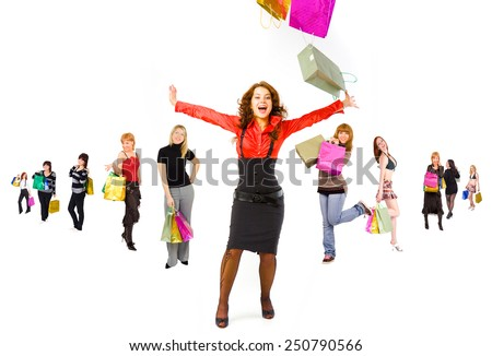 Spending is Fun Shopping Spree  - stock photo