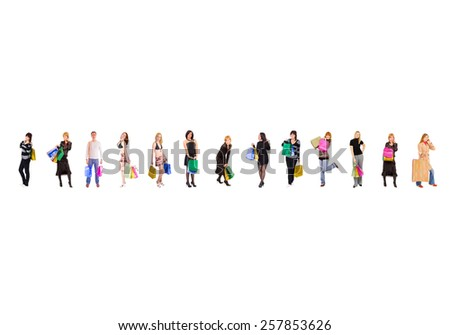 Spending is Fun Women Shopping  - stock photo