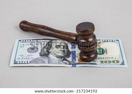 spends for legal issues - stock photo