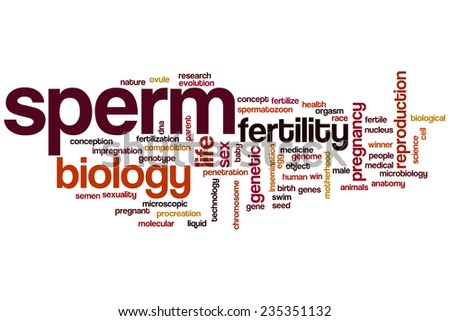 Sperm word cloud concept - stock photo