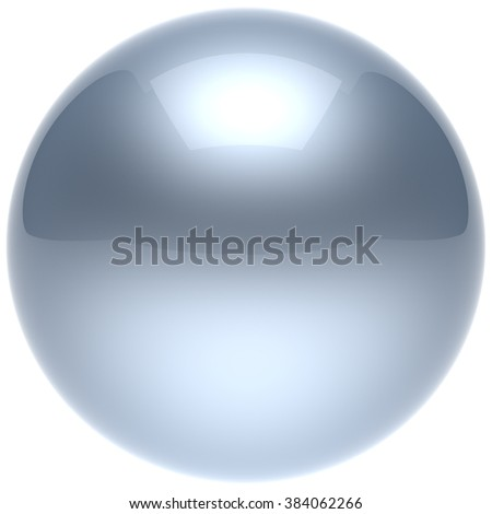 Sphere ball button circle round basic solid bubble figure geometric shape minimalistic simple atom element single white chrome shiny glossy sparkling object blank balloon icon. 3d render isolated - stock photo