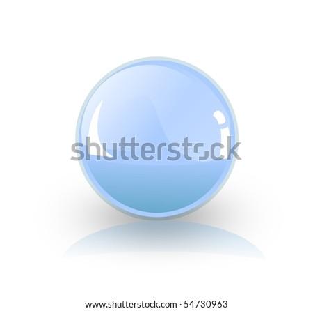 sphere button - stock photo