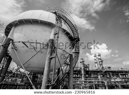 sphere is containing flammable gases in side - stock photo