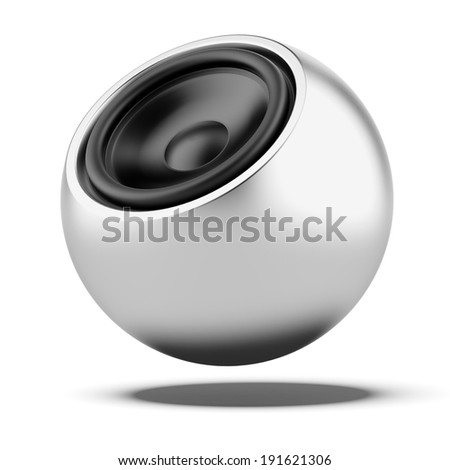 Sphere Speaker - stock photo