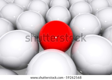 Spheres with Red - stock photo