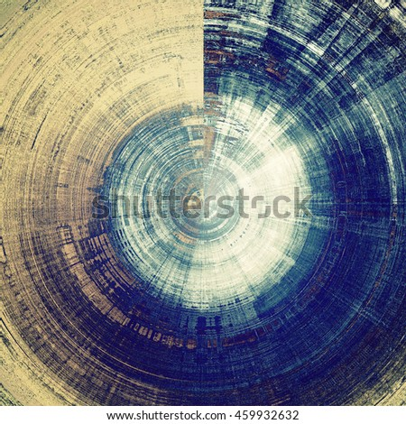 Spherical abstract faded retro background or shabby texture with vintage style design and different color patterns: yellow (beige); brown; gray; blue; cyan; white - stock photo