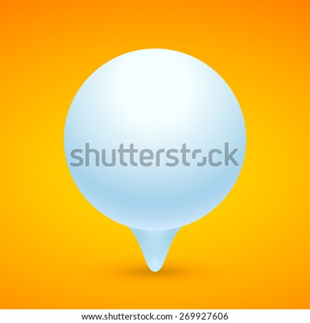 Spherical banner. Round banner on orange background. Raster copy.