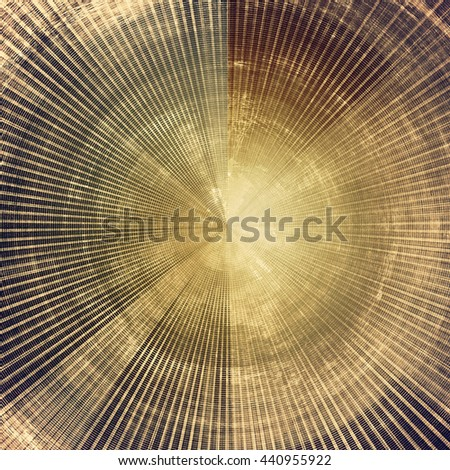 Spherical retro style background with grungy vintage texture and different color patterns: yellow (beige); brown; gray; purple (violet) - stock photo