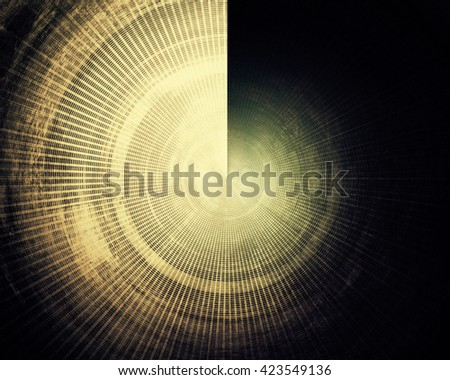 Spherical vintage background in scrap-booking style, faded grunge texture with different color patterns: yellow (beige); brown; green; blue; gray; black - stock photo