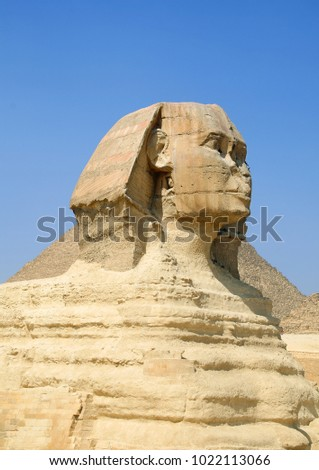 Sphinx at the Giza Pyramids in Egypt