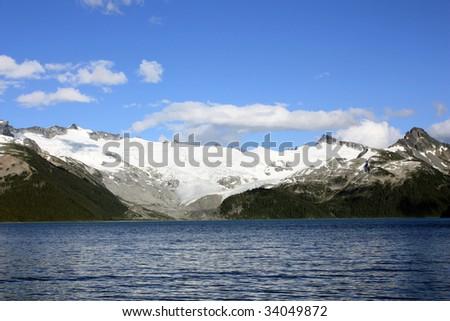 Sphinx Glacier And Garibaldi Lake (Garibaldi Provincial Park, Coast Mountains, British Columbia, Canada) - stock photo