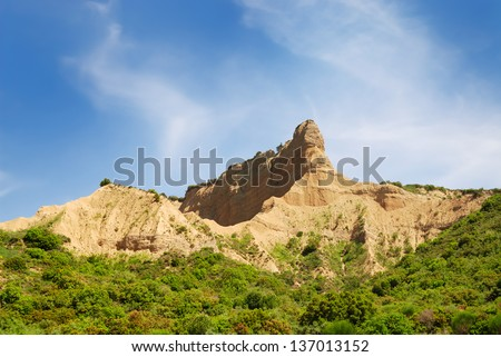 Sphinx shaped historically famous hill in Gallipoli Turkey - stock photo