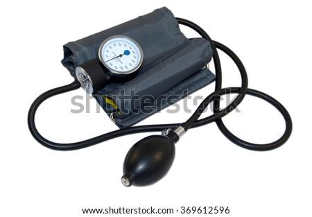 Sphygmomanometer (blood pressure cuff) - stock photo