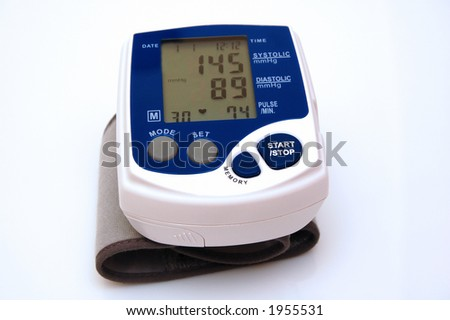 Sphygmomanometer -  measuring blood pressure.