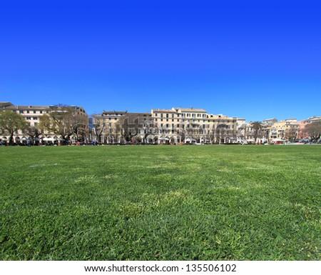 Spianada square of Corfu, Greece - stock photo