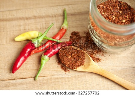 spice cayenne pepper - stock photo