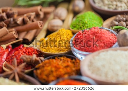 Spice, food, indian. - stock photo