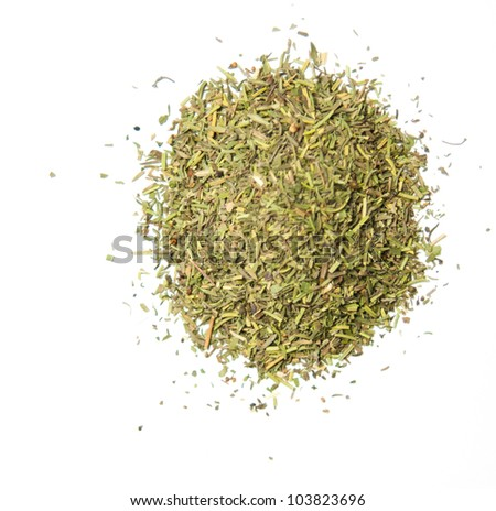 Spice herbs on the white background - stock photo