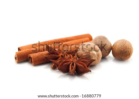 spice isolated on white background