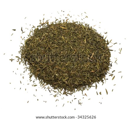 Spice of thyme isolated on white background - stock photo