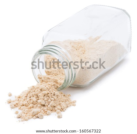 Spice Pouring - Ginger Powder  - stock photo