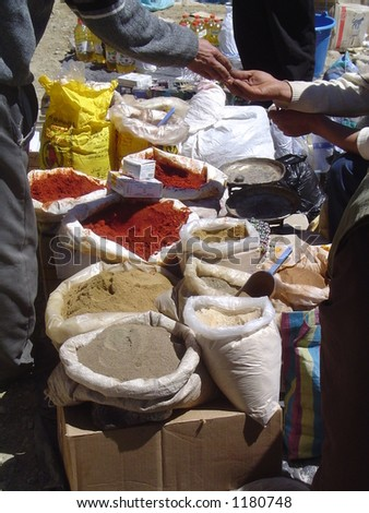 Spice sacks - stock photo