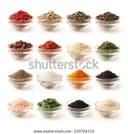 Spice set with clipping path - stock photo