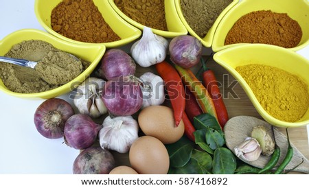 Curry spices stock images royalty free images vectors for Asian cuisine ingredients