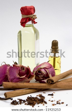 Spices,flowers,aromatherapy oil