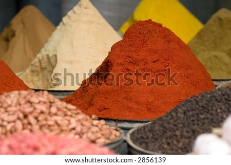 spices for sale - stock photo