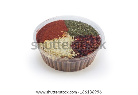 Spices in a container - stock photo