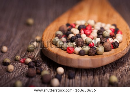spices in spoon