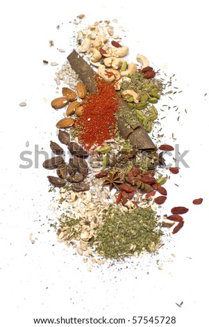 spices isolated - stock photo