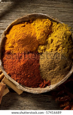 spices on bowl - stock photo